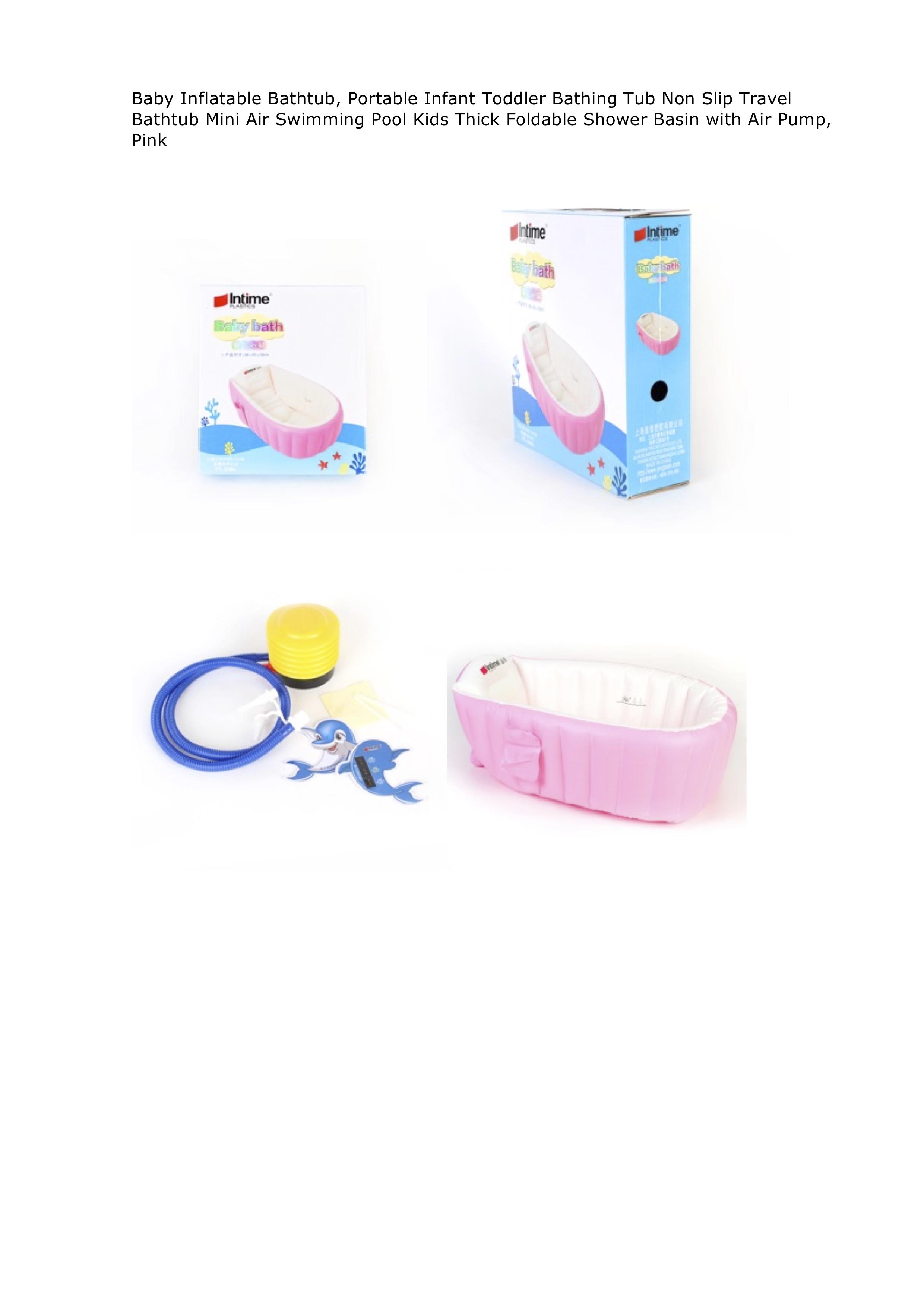 Inflatable baby bathtub pink